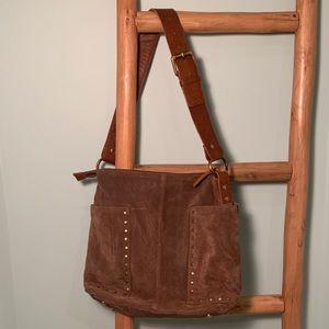Suede Studded Tote - Anabaglish